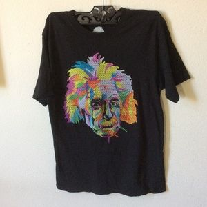 Einstein Rainbow String Theory Thread T-Shirt